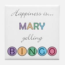 Mary BINGO Tile Coaster