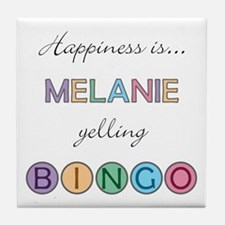 Melanie BINGO Tile Coaster