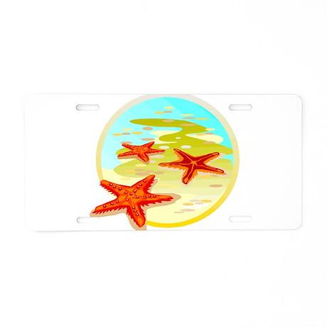 STARFISH {2} Aluminum License Plate
