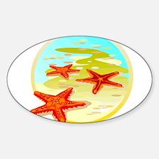 STARFISH {2} Sticker (Oval)