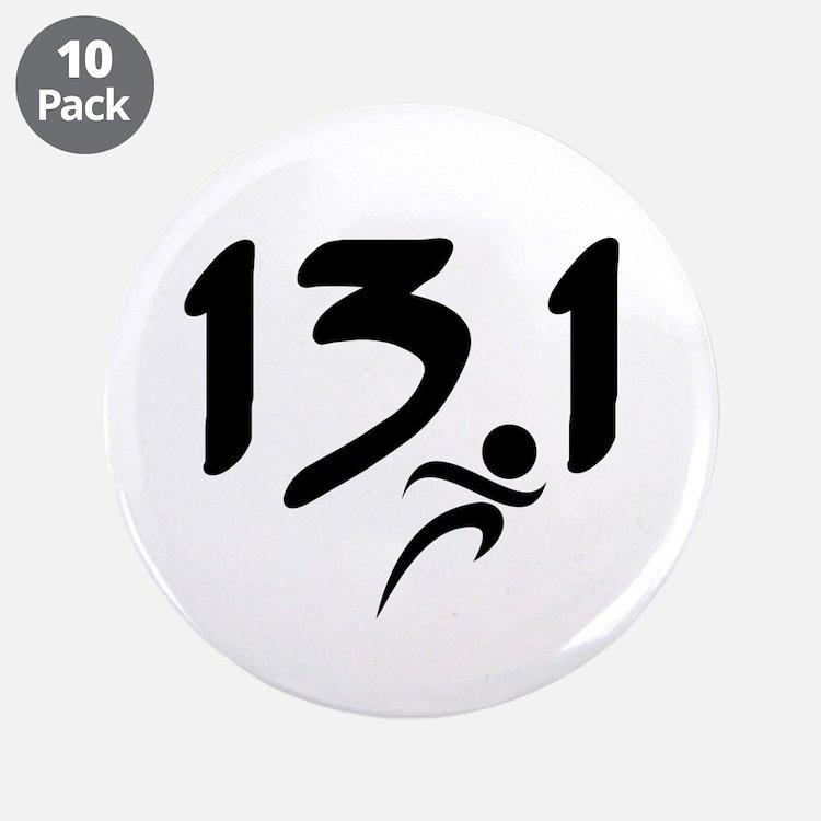 """13.1 run 3.5"""" Button (10 pack)"""