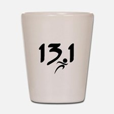 13.1 run Shot Glass