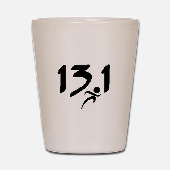 13.1 run Shot Glass