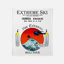 Heli Skiing Mt. Everest Throw Blanket