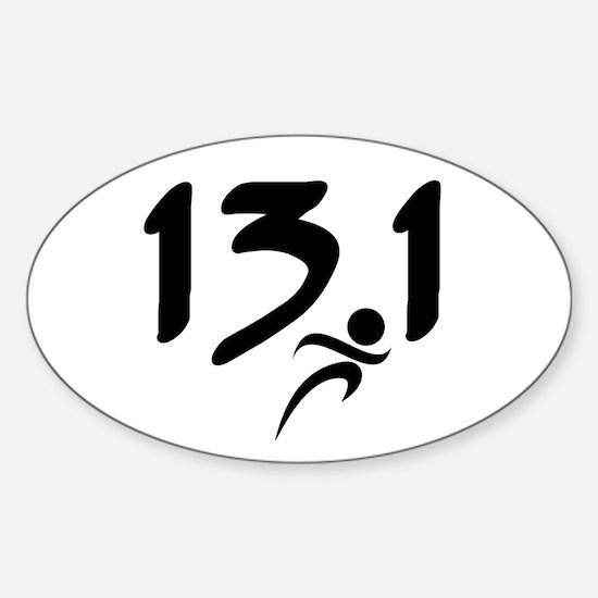 13.1 run Sticker (Oval)