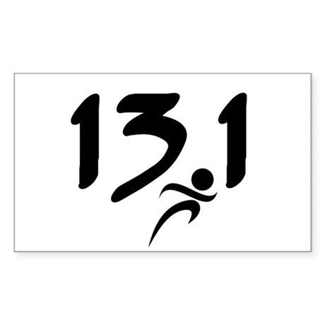 13.1 run Sticker (Rectangle)
