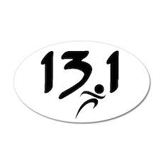 13.1 run 22x14 Oval Wall Peel