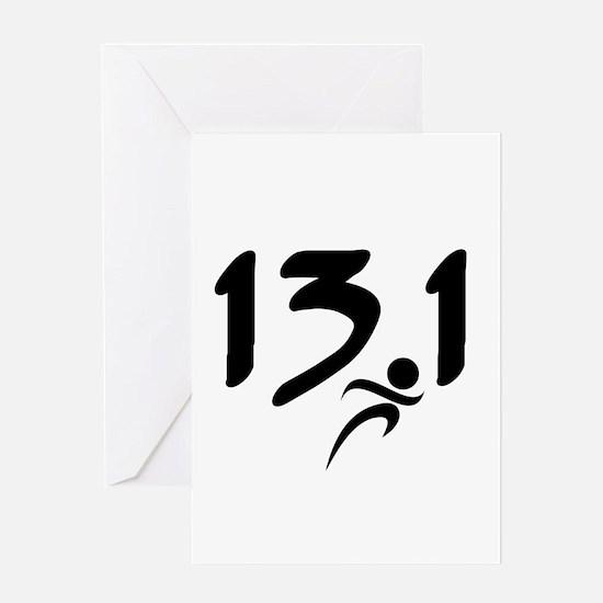 13.1 run Greeting Card