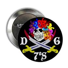 "Diego Garcia Jolly Roger 2.25"" Button (10 pack)"