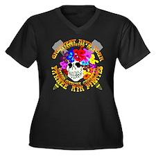 Diego Garcia Jolly Roger Women's Plus Size V-Neck