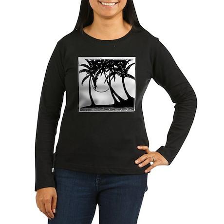 TROPICAL {4} Women's Long Sleeve Dark T-Shirt
