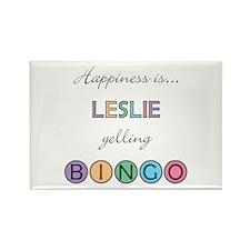 Leslie BINGO Rectangle Magnet