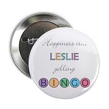 Leslie BINGO Button
