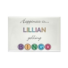 Lillian BINGO Rectangle Magnet