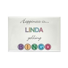Linda BINGO Rectangle Magnet