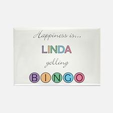 Linda BINGO Rectangle Magnet