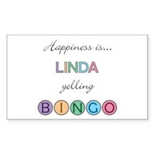 Linda BINGO Rectangle Decal