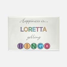 Loretta BINGO Rectangle Magnet