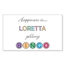 Loretta BINGO Rectangle Decal