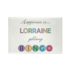 Lorraine BINGO Rectangle Magnet