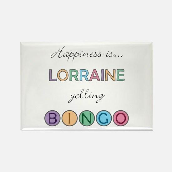 Lorraine BINGO Rectangle Magnet