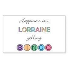 Lorraine BINGO Rectangle Decal