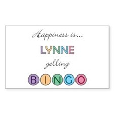 Lynne BINGO Rectangle Decal