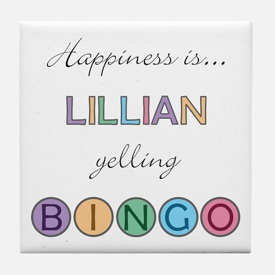 Lillian BINGO Tile Coaster