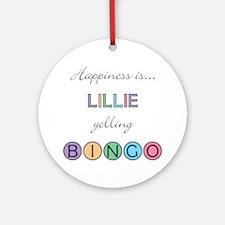 Lillie BINGO Round Ornament