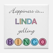 Linda BINGO Tile Coaster