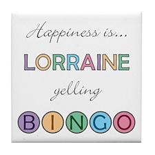 Lorraine BINGO Tile Coaster