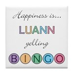 Luann BINGO Tile Coaster