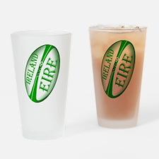 Eire Ireland Rugby Drinking Glass