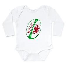 Welsh Rugby Ball Long Sleeve Infant Bodysuit