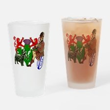 Rampant Lions Rugby Drinking Glass