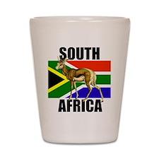 South Africa Springbok Shot Glass