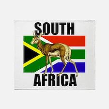 South Africa Springbok Throw Blanket