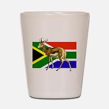 South Africa Springbok Flag Shot Glass