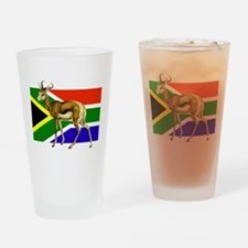 South Africa Springbok Flag Drinking Glass