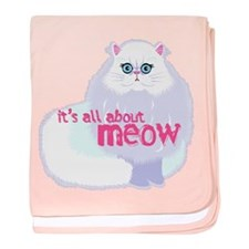 Its All About MEow baby blanket