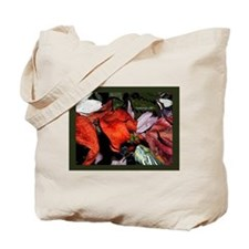 Red Eared Slider Turtle and Flowers Tote Bag