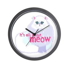 Its All About MEow Wall Clock
