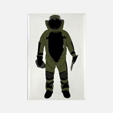 Bomb Suit Rectangle Magnet