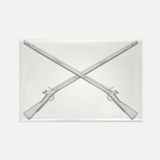 Crossed Muskets Rectangle Magnet