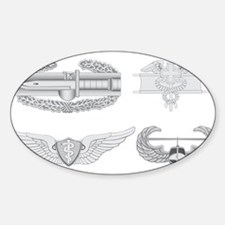 CAB EFMB Flight Surgeon Air Assault Sticker (Oval)