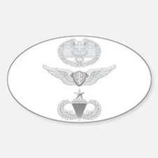 CFMB Flight Surgeon Airborne Senior Sticker (Oval)
