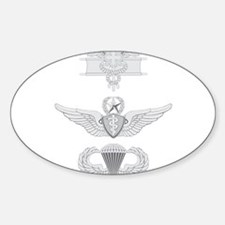 EFMB Flight Surgeon Master Airborne Sticker (Oval)