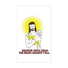 Redneck Jesus Jihad Rectangle Decal