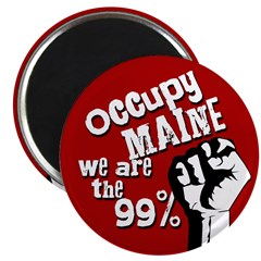 Occupy Maine Fridget Magnet