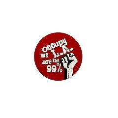 Occupy LA Mini Button